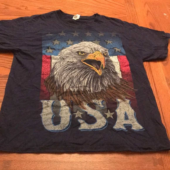 Fruit of the Loom Other - USA with Screeching Bald Eagle Tee